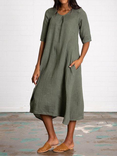 fd092167c7 Justfashionnow Plus Size Linen Women Dresses Midi Dresses Sundress 1 ...