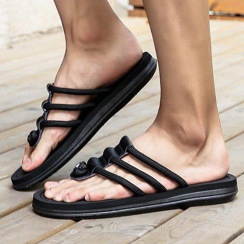 Women Round Toe Flat Summer Slippers