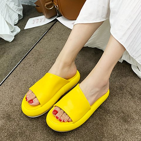 Women Round Toe Casual Slippers