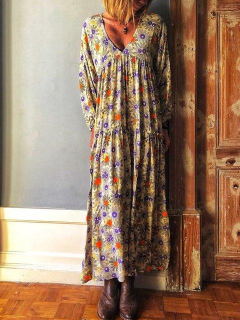 V Neck Women Summer Dresses Holiday Casual Paneled Dresses