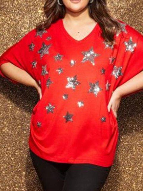 Batwing Geometric Paneled Shirts & Tops