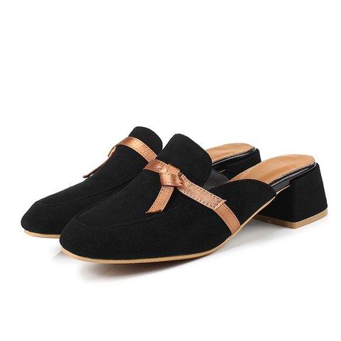 Women Date Suede Casual Slide Mule Sandals