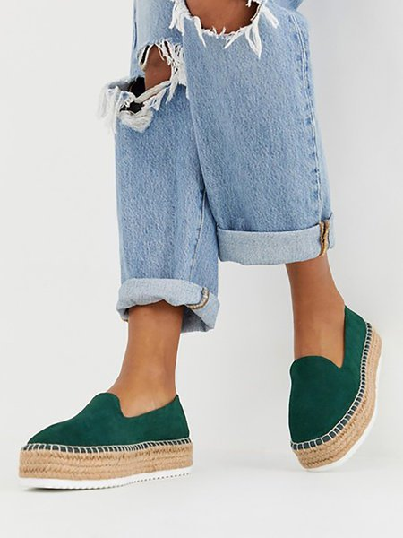 Faux Suede Espadrilles Shoes Slip-on Casual Loafers