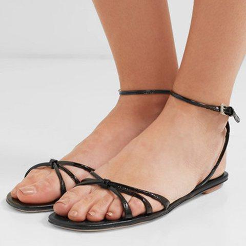 Women  Flat Heel Pu Summer Daily Sandals