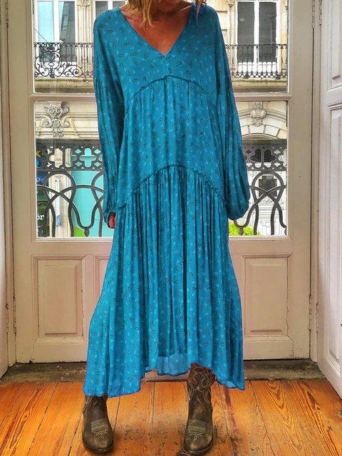 V Neck Women Summer Dresses Holiday Casual Polka Dots Dresses