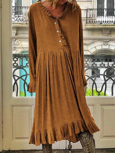 V Neck Women Summer Dresses Casual Dresses