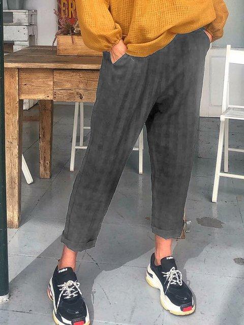Summer Linen Paneled Casual Pants
