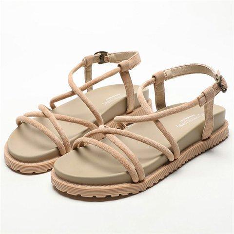 Women Roman Buckle Strap Sandals