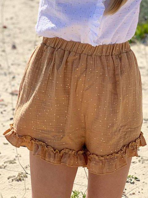Plus Size Polka Dots Women Summer Pants Shorts