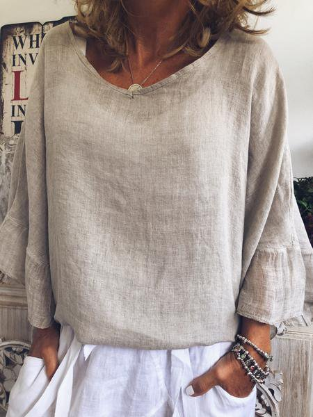 Solid Casual Long Sleeve Shirts