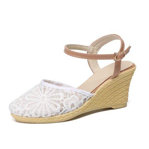 Summer Wedge Heel Holiday Cloth Sandals