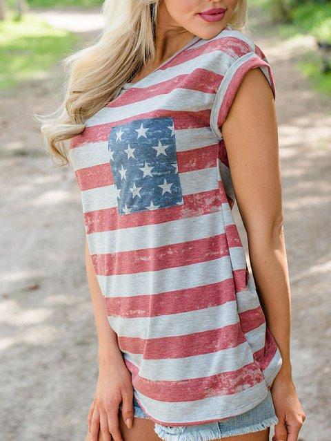 Women's July 4th Camo Printed T-Shirts