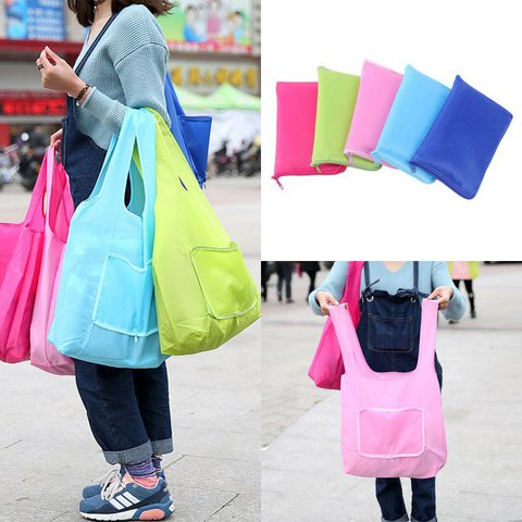 Foldable Tote Bag Grocery Grab Bag Waterproof Shopping Bag