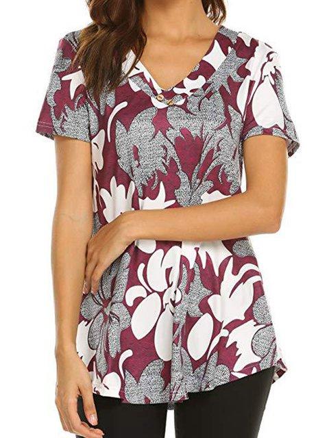 Paneled Cotton Holiday Shirts & Tops