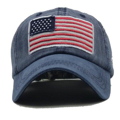Unisex Letter Embroidered USA Flag Hat