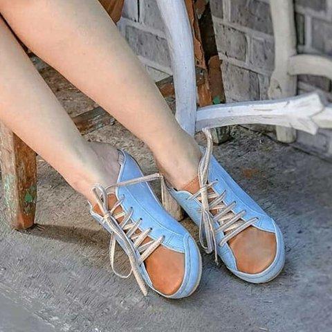 Women Color Block Flat Sneakers