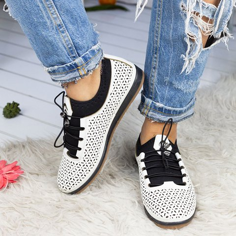 Women's New Style Hollow Out Lace Up Sneakers