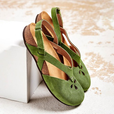 Women Comfy Magic Tape Flat Sandals