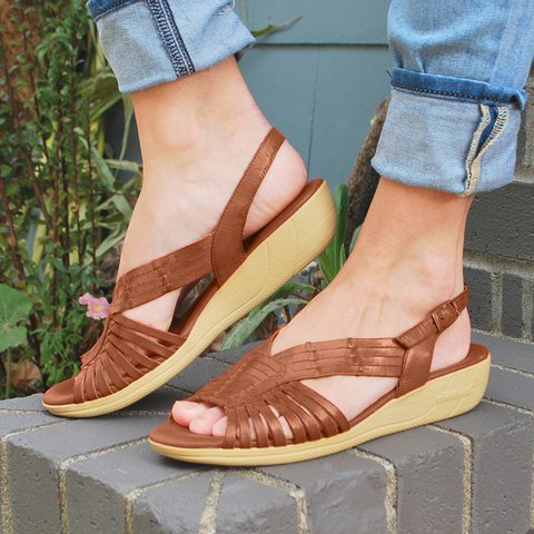 Women Comfy Holiday Flat Buckle Sandals
