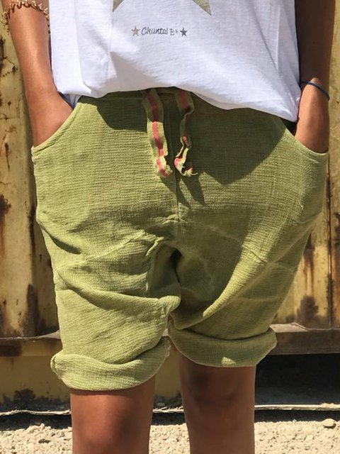Plus Size Women Summer Shorts Pants With Pockets