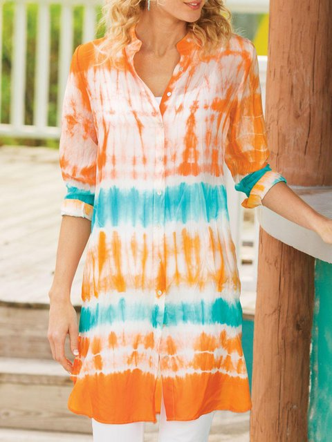 6cbb8bdde3d Women Tops Summer Outfits Tunic Tops Plus Size Tie Dyed Resort Women Tunic  Blouses - JustFashionNow.com