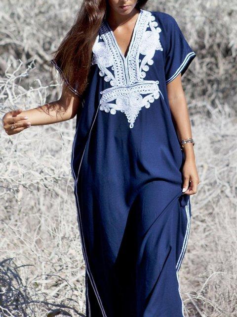 dd4f7fec64b Justfashionnow Shirt Dress 1 Sundress Shift V Neck Beach Paneled Short  Sleeve Dresses