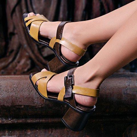 Women Yellow Summer  Daily Sandals
