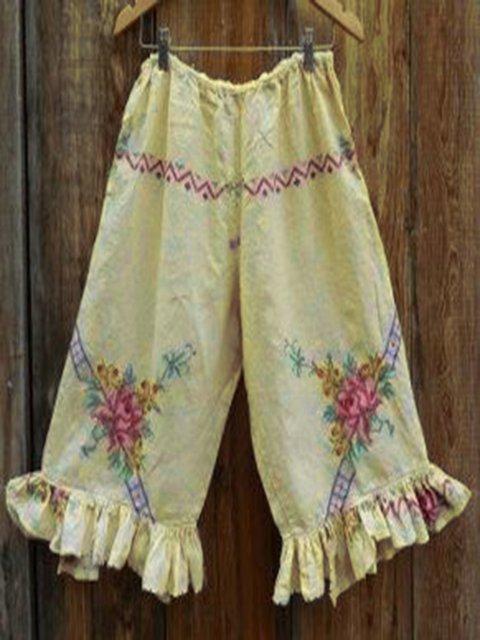 Women Casual Floral Pants