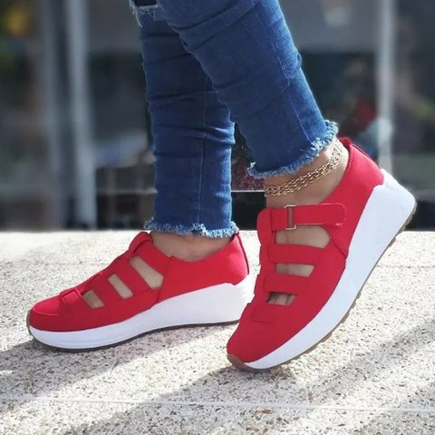 Women Multi Straps Casual Sneakers