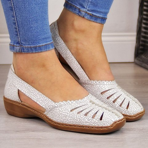 Women Cut-out Casual Sandals