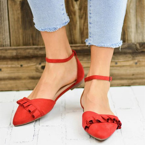 Women Comfy Slip-on Mary Jane Flat Sandals