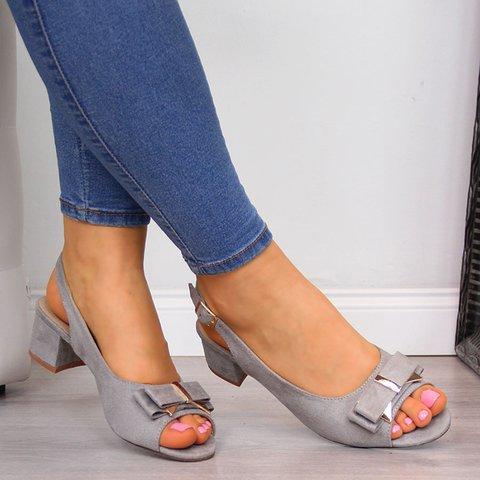 Women Peep Toe Chunky Heel Ankle Strap Sandals