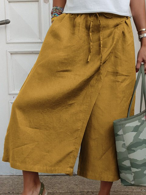 Holiday Cotton Solid Summer Pants