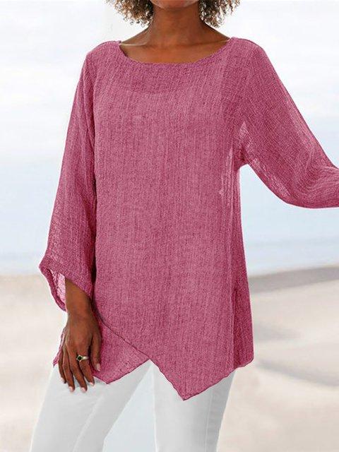 b4885b7b1e9516 Women Tops Tunic Tops Linen Outfits Plus Size Asymmetric Linen Women ...