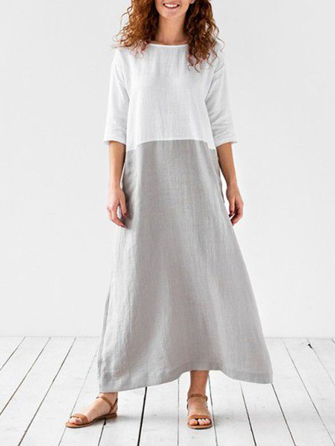 Crew Neck Women Summer Dresses Daily Casual Dresses