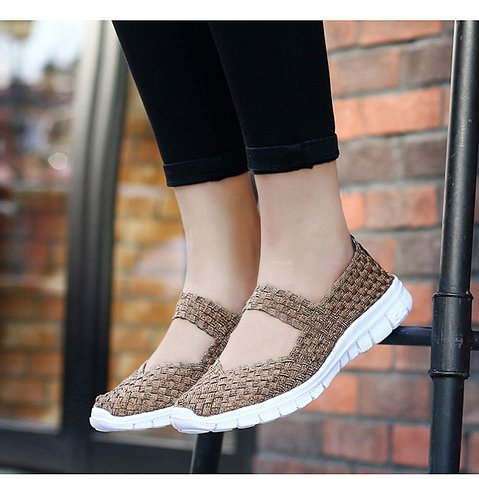 Women Woven Stretchy Casual Daily Sandals