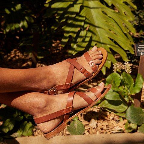 Women's Casual Open Toe Buckle Strap Summer Sandals