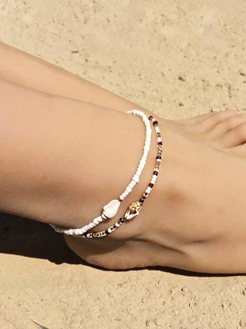 Bohemian Handmade Beaded Beach Two Piece Anklets