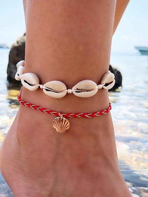 New Fashion Two Piece Shell Anklets