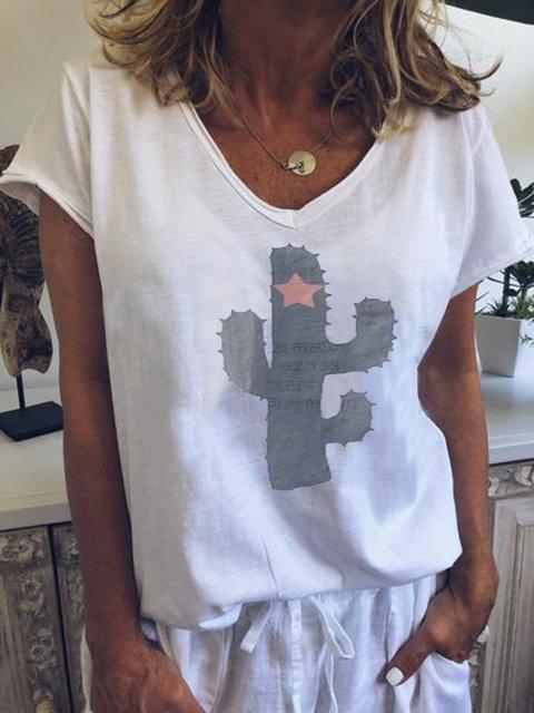 Short Sleeve Plain V Neck Shirts & Tops