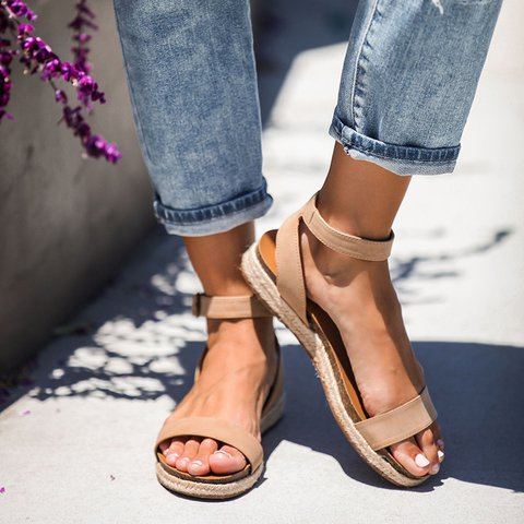 Apricot Flat Heel Daily Sandals