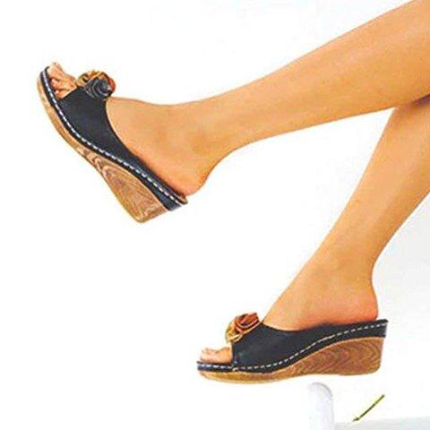 Wedge Sandals Spring/fall Flower Slide Sandals