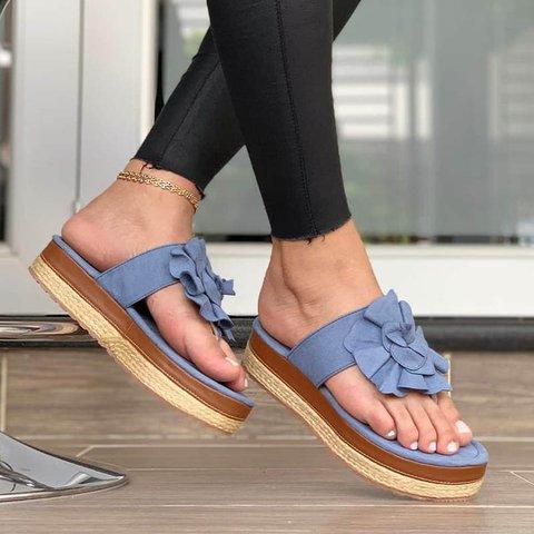 Women's Casual Flower Slip On Summer Slippers