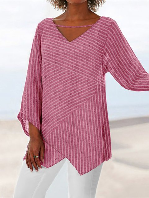 Summer Linen Casual Long Sleeve Blouses