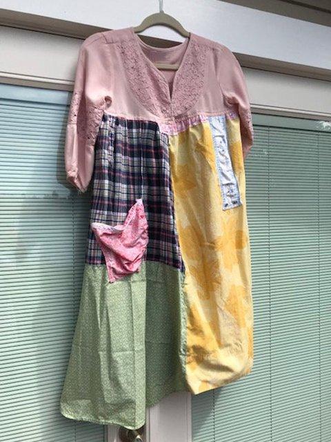 V Neck Women Dresses Shift Date Cotton Floral Dresses