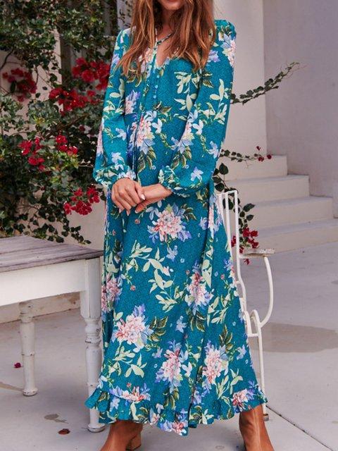 df994952c1 Justfashionnow Party Dresses Long Sleeve Ruffled Dresses Holiday V Neck  Ruffled Beach Dresses