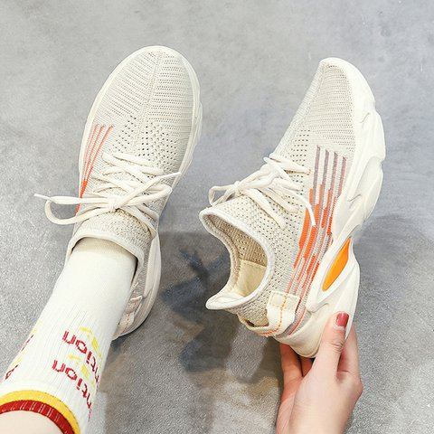 Women Round Toe Athletic Lace-Up Casual Sneakers