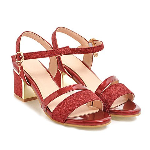Women Casual Summer Open Toe Chunky Heel Sandals