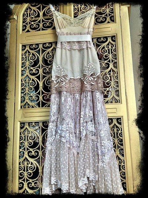 Women Purple Patchwork V Neck Elegant Lace Dresses