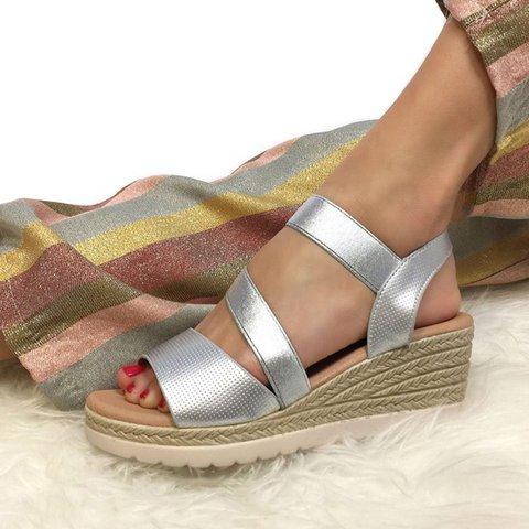 Women's Casual Slip On Wedge Heel Summer Sandals